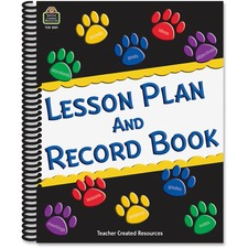 TCR 2551 Teacher Created Res. Paw Prints Lesson/Record Book TCR2551