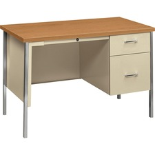 HON 34002RCL HON 34000 Series B/F Single Pedestal Metal Desk HON34002RCL