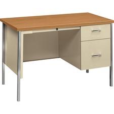 HON 34002RCL HON 34000 Series Hrvst/Pty Single Ped. Metal Desk HON34002RCL