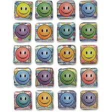 CKC 1648 Chenille Kraft Peel/Stick Smiley Faces Stickers CKC1648