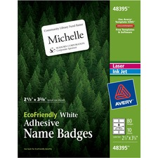AVE 48395 Avery Eco-friendly Name Badge Labels AVE48395