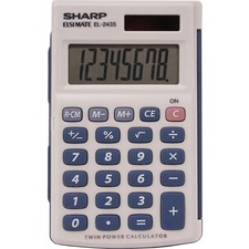 SHR EL243SB Sharp EL-243SB 8-digit Pocket Calculator SHREL243SB