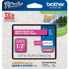 "BRT TZEMQP35 Brother PTouch 1/2"" Laminated TZe Tape BRTTZEMQP35"