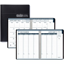 HOD 28302 Doolittle Tabbed Wirebound Weekly/Monthly Planner HOD28302