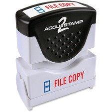 COS 035524 Cosco Accustamp 2-color Shutter Stamp COS035524
