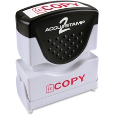 COS 035594 Cosco 1-Color Red Shutter Stamp w/ Microban COS035594