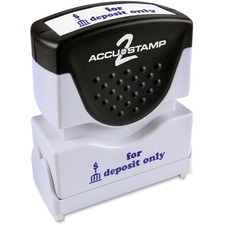 COS 035601 Cosco Accustamp Blue Shutter Stamp COS035601