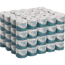 """Premium Embossed Toilet Paper by GP PRO - 2 Ply - 4"""" x 4.05"""" - 450 Sheets/Roll - White - Soft - For Food Service, Office Building - 80 / Carton"""