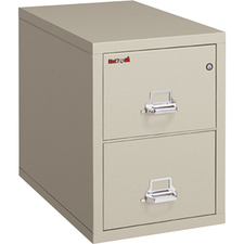 """FireKing 2-2131-C File Cabinet - 2-Drawer - 20.8"""" x 31.6"""" x 27.8"""" - 2 x Drawer(s) for File - Legal - Vertical - Drawer Suspension, Recessed Handle, Key Lock, Fire Proof, Scratch Resistant - Chrome, Platinum - Powder Coated - Steel"""