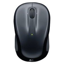 Logitech M325 Mouse - Optical - Wireless - Radio Frequency - 2.40 GHz - Dark Silver - 1 Pack - USB - Tilt Wheel - 2 Button(s) - Symmetrical