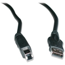Exponent Microport USB Cable - 6 ft USB Data Transfer Cable - Type A Male USB - Type B Male USB - Black - 1 Pack