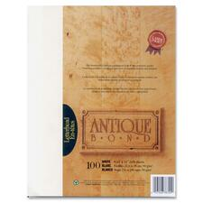 "First Base Antique Bond 78724 Laser, Inkjet Bond Paper - Letter - 8 1/2"" x 11"" - 24 lb Basis Weight - 100 / Pack - White"