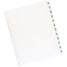 "Oxford Premium Preprinted Tab Divider - Printed Tab(s) - Month - Jan-Dec - 8.50"" Divider Width x 11"" Divider Length - Letter - White Fiber Divider - Plastic Tab(s) - 26 / Set"