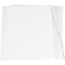 "Oxford Premium Preprinted Tab Divider - Printed Tab(s) - Character - A-Z - 0.33"" Divider Width x 11"" Divider Length - Letter - White Fiber Divider - Plastic Tab(s) - 26 / Set"