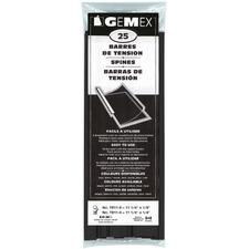 "Gemex Tension Bar - 20 x Sheet Capacity - For Legal 8 1/2"" x 14 1/64"" Sheet - Black - 25 / Pack"