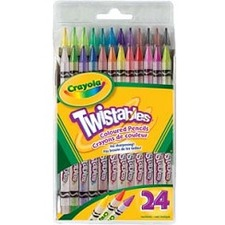 Crayola® Twistables® Coloured Pencils 24/set