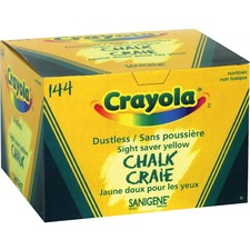 Crayola Dustless Chalk Stick - Yellow - 144 / Box