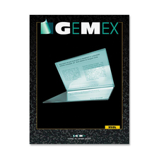 """Gemex Folded Style Card Holder - Support 3.75"""" (95.25 mm) x 2.50"""" (63.50 mm) Media - Vinyl - 50 / Pack - Clear"""