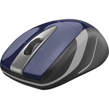 Logitech Wireless Laser Mouse - Optical - Wireless - Radio Frequency - 2.40 GHz - Blue, Black - USB - 1000 dpi - Scroll Wheel - 3 Button(s) - Symmetrical