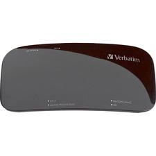 Verbatim Universal Card Reader, USB 2.0 - Black - 15-in-1 - CompactFlash Type I, CompactFlash Type II, Microdrive, Memory Stick Duo, Memory Stick PRO, Memory Stick PRO Duo, Memory Stick Duo (MagicGate), SD, SDHC, miniSD, microSD, ... - USB 2.0External - 1