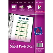 AVE 77004 Avery Mini Diamond Heavyweight Sheet Protectors AVE77004