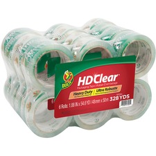 "Duck Brand HD Clear Packing Tape - 54.60 yd Length x 1.88"" Width - 3"" Core - 2.60 mil - Acrylic Backing - 24 / Carton - Clear"