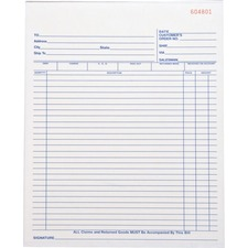 BSN 39555 Bus. Source All-purp. Carbonless Triplicate Forms BSN39555