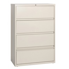 LLR43510 - Lorell Receding Lateral File with Roll Out Shelves