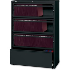 LLR43511 - Lorell Receding Lateral File with Roll Out Shelves