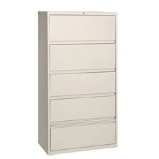 LLR43512 - Lorell Receding Lateral File with Roll Out Shelves
