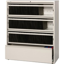 LLR43514 - Lorell Receding Lateral File with Roll Out Shelves
