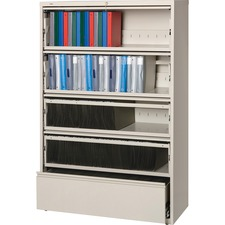 LLR43516 - Lorell Receding Lateral File with Roll Out Shelves