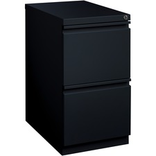 """Lorell Mobile File Pedestal - 15"""" x 22.9"""" x 27.8"""" - Letter - Recessed Handle, Ball-bearing Suspension, Security Lock - Black - Steel - Recycled"""