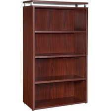 LLR 68720 Lorell Ascent Series Mahogany Laminate Bookcase LLR68720