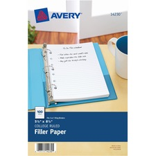 AVE 14230 Avery 7-Hole Punched College Ruled Filler Paper AVE14230