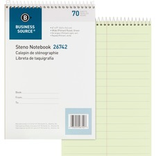 BSN 26742 Bus. Source Pitman Ruled Steno Notebook BSN26742
