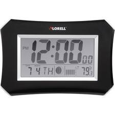 LLR60998 - Lorell LCD Wall/Alarm Clock