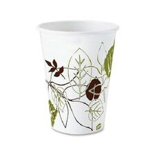 Dixie Pathways Paper Hot Cups by GP Pro - 236.59 mL - 1000 / Carton - White - Paper - Hot Drink