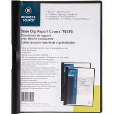 BSN 78495 Bus. Source Patented Clip Vinyl Report Cover BSN78495