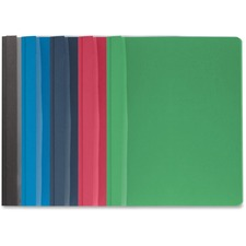 """Business Source Letter Report Cover - 8 1/2"""" x 11"""" - 100 Sheet Capacity - 3 x Prong Fastener(s) - Assorted"""