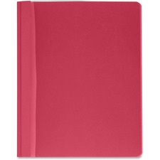 "Business Source Report Cover - Letter - 8.5"" x 11\"" - 3 Fastener - 100 Sheet - 25 / Box - Red, Clear"