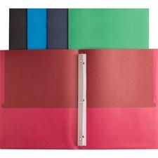 BSN78531 - Business Source Storage Pockets Fastener Folders