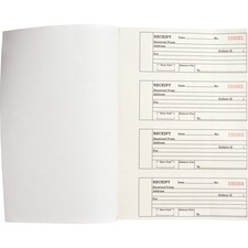 BSN 39558 Bus. Source 2-part Receipt Book BSN39558