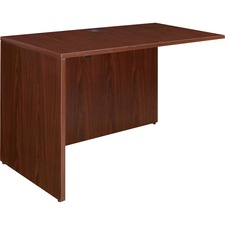 "Lorell Essentials Rectangular Return - 41.6"" x 23.6"" x 29.5"" - Finish: Laminate, Mahogany"