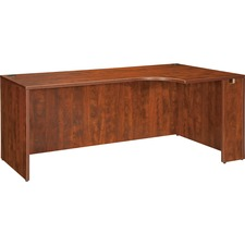 "Lorell Essentials Rectangular Credenza - 70.9"" x 35.4"" x 29.5"" - Finish: Cherry, Laminate"