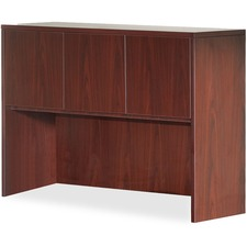 "Lorell Essentials Hutch - 59"" x 14.8"" x 36"" - Drawer(s)3 Door(s) - Finish: Laminate, Mahogany"