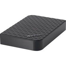 Verbatim 3TB Store 'n' Save Desktop Hard Drive, USB 3.0 - Black - USB 3.0 - Diamond Black - 1 Pack
