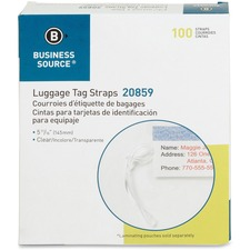 BSN20859 - Business Source Luggage Tag Plastic Strap