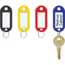"Steelmaster Assorted Key Tags - 2"" (50.80 mm) x 0.90"" (22.86 mm) x 0.20"" (5.08 mm) - Plastic, Metal - 20 / Pack - Assorted"