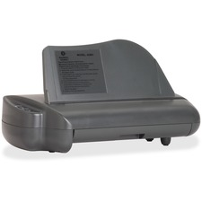 "Business Source Electric Adjustable 3-hole Punch - 3 Punch Head(s) - 30 Sheet Capacity - 1/4"" Punch Size - Gray"